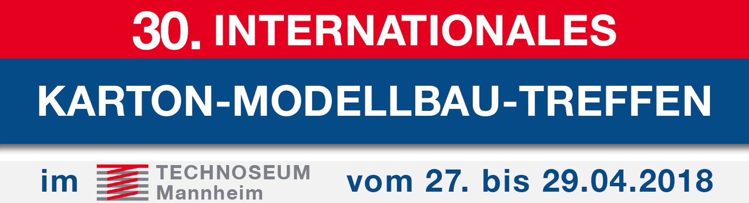 Internationales Karton-Modellbau-Treffen 2018 - Banner