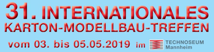 Internationales Karton-Modellbau-Treffen 2019 - Banner